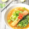 Salmon and Noodle Broth