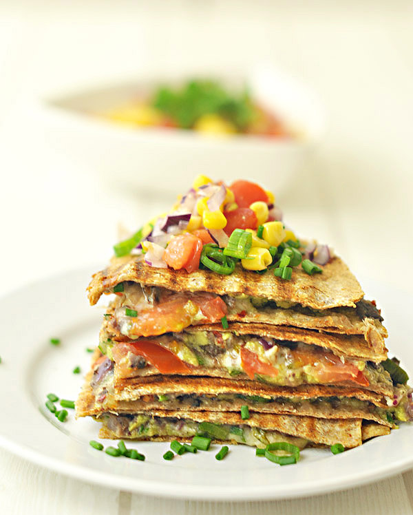 Black Bean, Avocado And Red Pepper Quesadilla Recipes — Dishmaps
