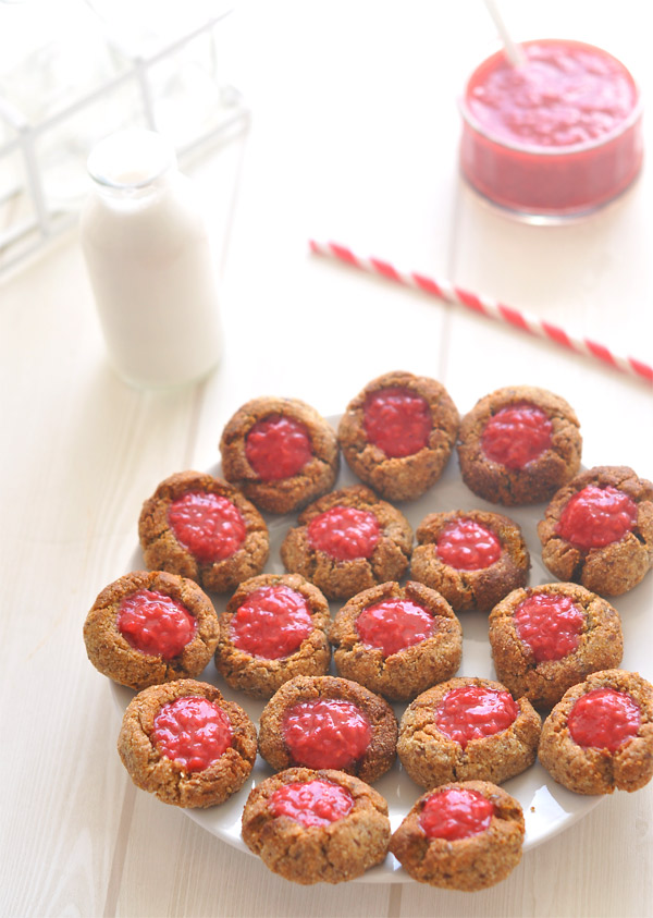 Raspberry & Almond Thumbprint Cookies