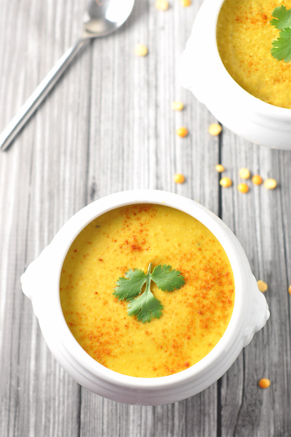 Roasted Cauliflower & Split Pea Soup